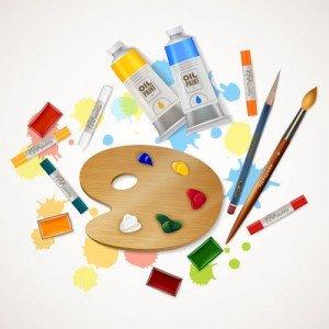 أدوات الرسم والأشغال اليدوية