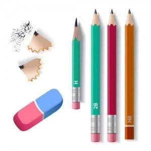 أقلام رصاص ومحايات